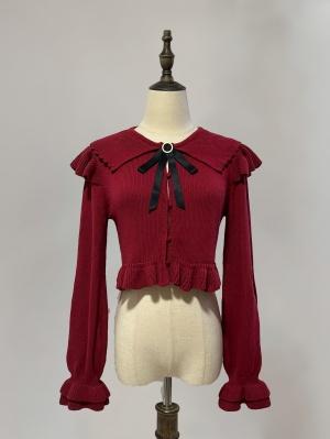 Good Things 4 Colors Lolita Cardigan Matching Brooch