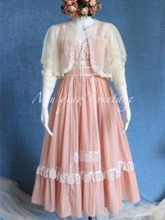 Flower Field Sweetheart Neckline Cami Dress / Mesh Top Set