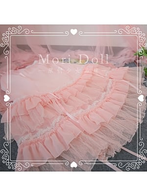 Small Forest Mesh Tiered Skirt Sweet Lolita SK by Mori Doll