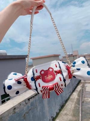 Sweet Lolita Toffee Teddy Bear Candy Big / Small Crossbody by Milk Tea Bear Studio