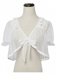 Summer Short Puff Sleeves Tulle Lolita Top by Magic Tea Party