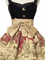 Winter Hunting Period Sweetheart Neckline Ruffled Hemline Lolita Dress JSK