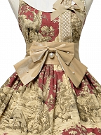 Winter Hunting Period Round Neckline Prints Lolita Dress JSK