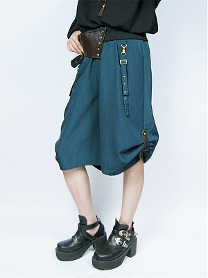 Netural Five-point Wide-leg Pants by Mr Yi's Steamland