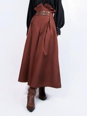 Steampunk Vintage Studded High Waist Culottes by Mr Yi's Steamland