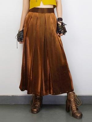 Steampunk Japanese Style Wide-leg Pants by Mr Yi's Steamland