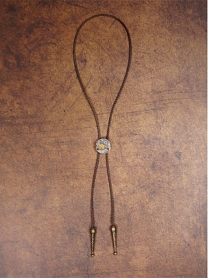 Handmade Steampunk Vintage Denim Bolo Tie by Mr Yi's Steamland