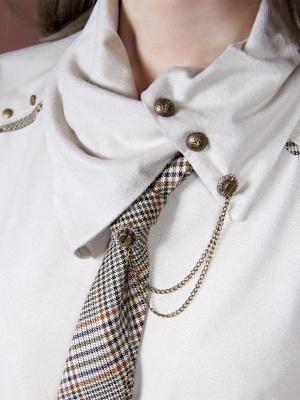 Steampunk Bronze Gear Neutral Shirt Collar Brooch Accessories by Mr Yi's Steamland
