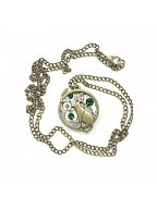 Handmade Steampunk Cat and Mouse Vintage Metal Gear Pendant Necklace by Mr Yi's Steamland