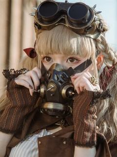 Handmade Steampunk Gas Mask / Goggles by Mr Yi's Steamland
