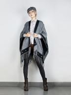 Dual-use Thick Faux Wool Tassel Shawl Scarf by Mr Yi's Steamland