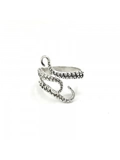 Handmade Steampunk Ancient Silver Octopus Ring by Mr Yi's Steamland