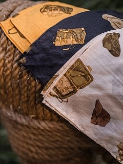 Steampunk Vintage Cotton Printed Square Scarf