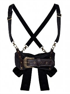 Steampunk Vintage Gothic Bowknot Decorative Bustier