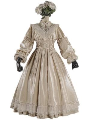 The Butterfly Effect Stand Collar Long Sleeves Elegant Lolita Dress OP