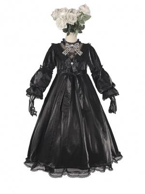 The Butterfly Effect Stand Collar Long Sleeves Empire Waist Lolita Dress OP