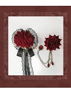 Elegant Rose Brooch Collection by Souffle Song