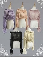 Off-the-shoulder Long Sleeves Lolita Blouse by Souffle Song