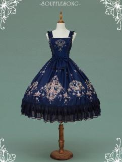 Jeweled Swan Square Neckline Prints Skirt Lolita Dress JSK