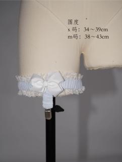 Alice Illustrated Book  Sweet Lolita Dress Matching Leg Ring by Nololita