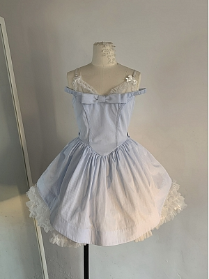 Alice Illustrated Book V-neck Sweet Lolita Dress JSK by Nololita