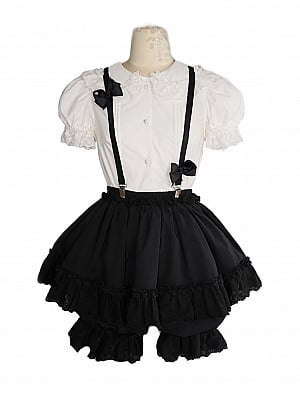 Nightingale Black / White Overall Bloomers by Nololita