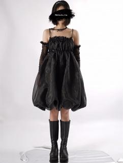 Air Pupa Square Neckline Organza Cami Dress by Nololita