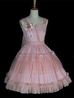 Aswan Moon Square Neckline Empire Waist Classic Lolita Dress JSK