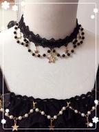 Star Signs Gold Stamping Lolita Dress Matching Choker by SHIMOTSUKI SAKUYA