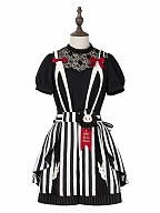 Soul Magician Lolita Overall Shorts / Top by Nikki Tomorrow