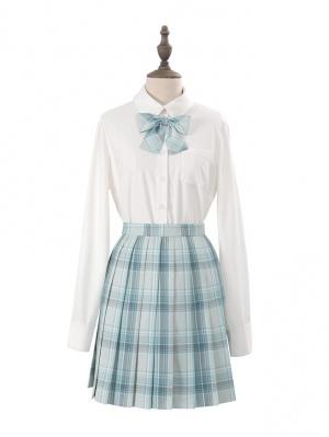 Hyaline JK Uniform Long Sleeves Shirt / Pleated Plaid Skirt Set by Nikki Tomorrow
