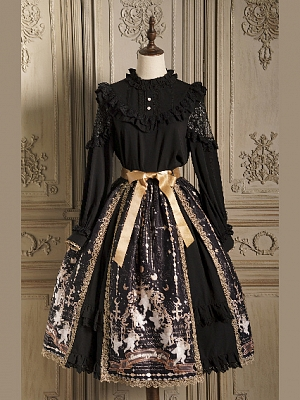 Meet Cupid Long Sleeves Blouse / Elegant Lolita Prints Skirt Set