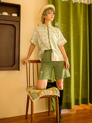 Limited Florescence Prince Green Ouji Lolita Shorts by Princess Chronicles