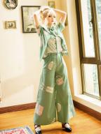 Limited Florescence Wide Leg Ouji Lolita Pants by Princess Chronicles