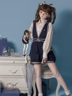 Hang Meow Road Lolita Overall Shorts