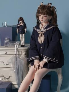 Hang Meow Road Navy Collar Long Sleeves Lolita Outerwear