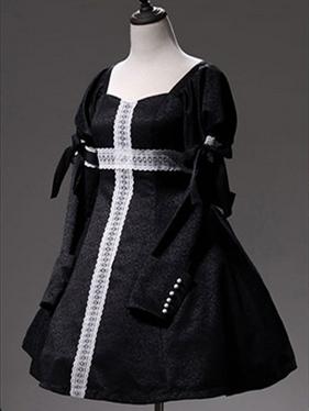Faust Series Square Neckline Long Sleeves Elegant Gothic Lolita Dress OP