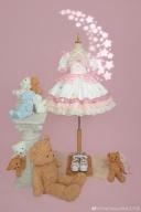 Magical Girl Meow Square Neckline Short Puff Sleeves Sweet Lolita Dress OP