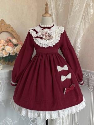 A Sheep Stand Collar Long Sleeves Sweet Lolita Dress OP