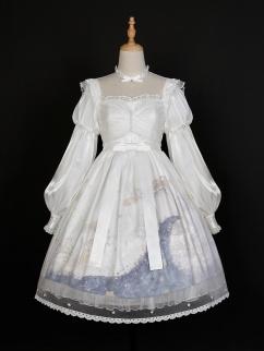 Pick the Stars Stand Collar Long Sleeves Elegant Lolita Dress OP