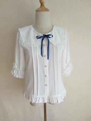 Turndown Collar Short Sleeves / Long Sleeves Lolita Shirt by Orchid Lane