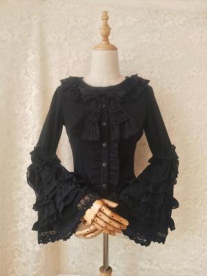 Vintgae Round Neckline Trumpet Sleeves Elegant Lolita Shirt by Orchid Lane