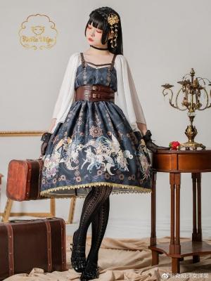 Hairy I Sweetheart Neckline Punk Wa Lolita Dress JSK