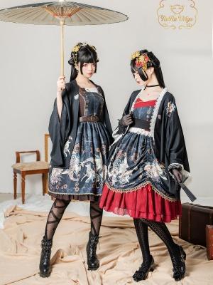 Hairy II Sweetheart Neckline Punk Wa Lolita Dress JSK