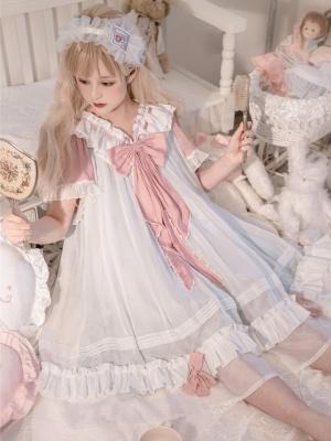 Big Bowknot Decorative Lolita Nightgown by Rayray