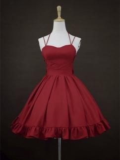 Serenade Sweetheart Neckline Halter Elegant Lolita Dress JSK Full Set by Rock Candy Box