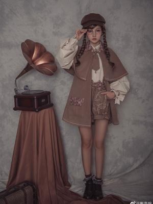 Detective Goose Turndown Collar Woolen Ouji Lolita Coat