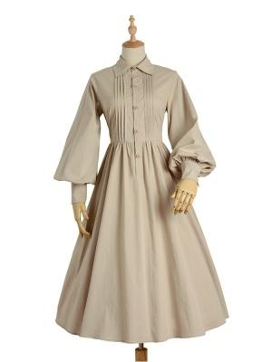 The age of Reasoning Turndown Collar Long Sleeves Vintage Lolita Dress OP