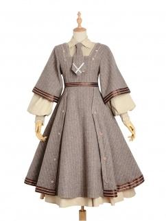 The age of Reasoning Square Neckline  Vintage Lolita Coat Full Set