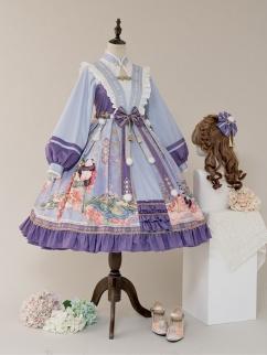 Dawn of Spring Square Neckline Wa Lolita Dress JSK and Top Set